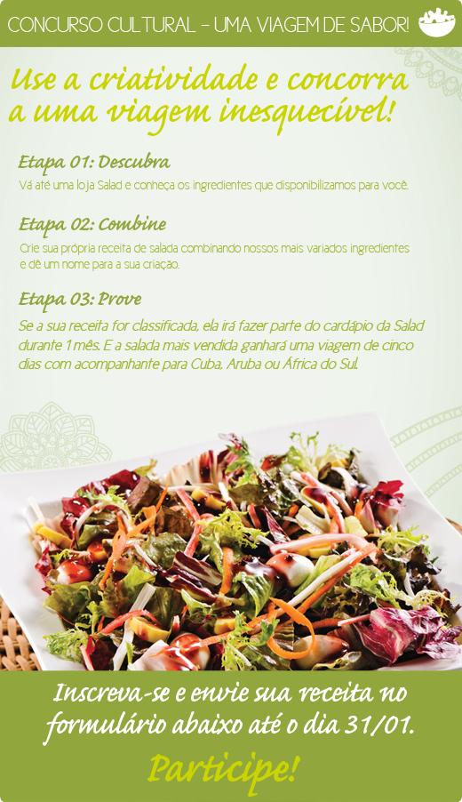 Promoção Salad Brasil - Uma viagem de sabor